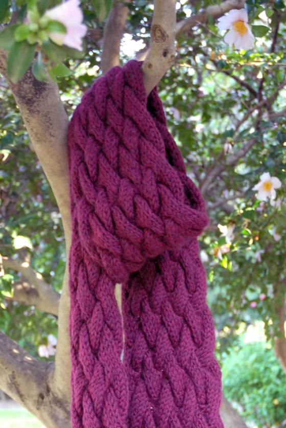 Francesca Cabled Scarf